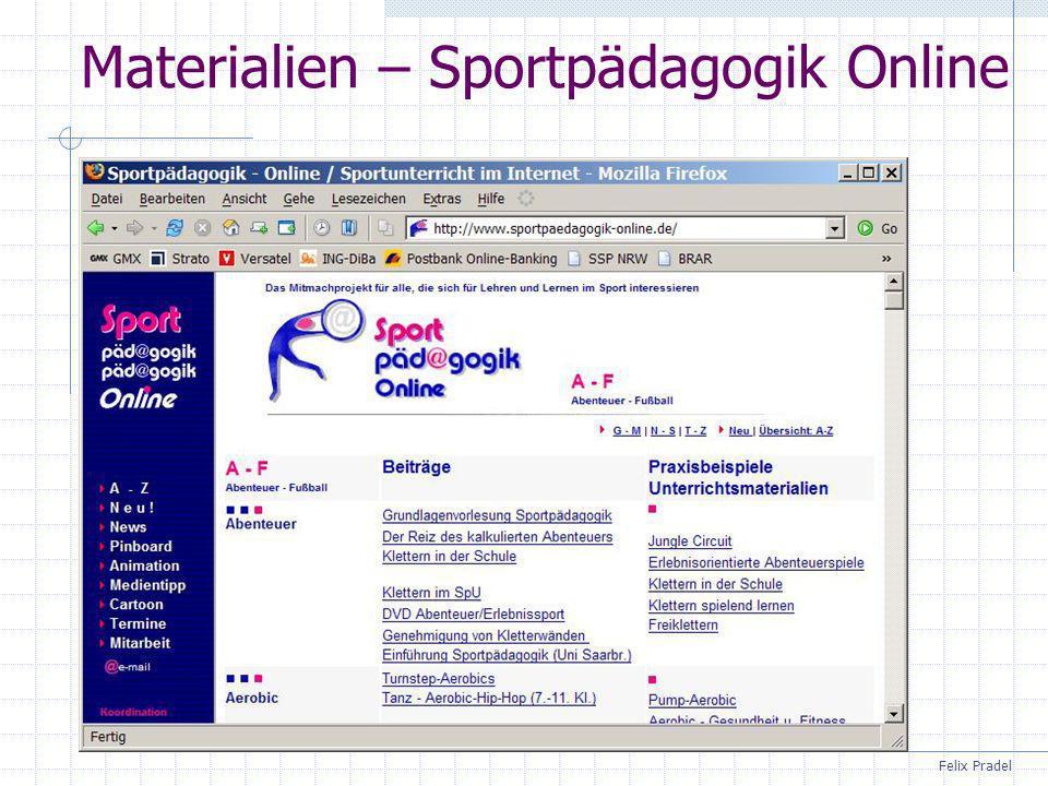 Materialien – Sportpädagogik Online