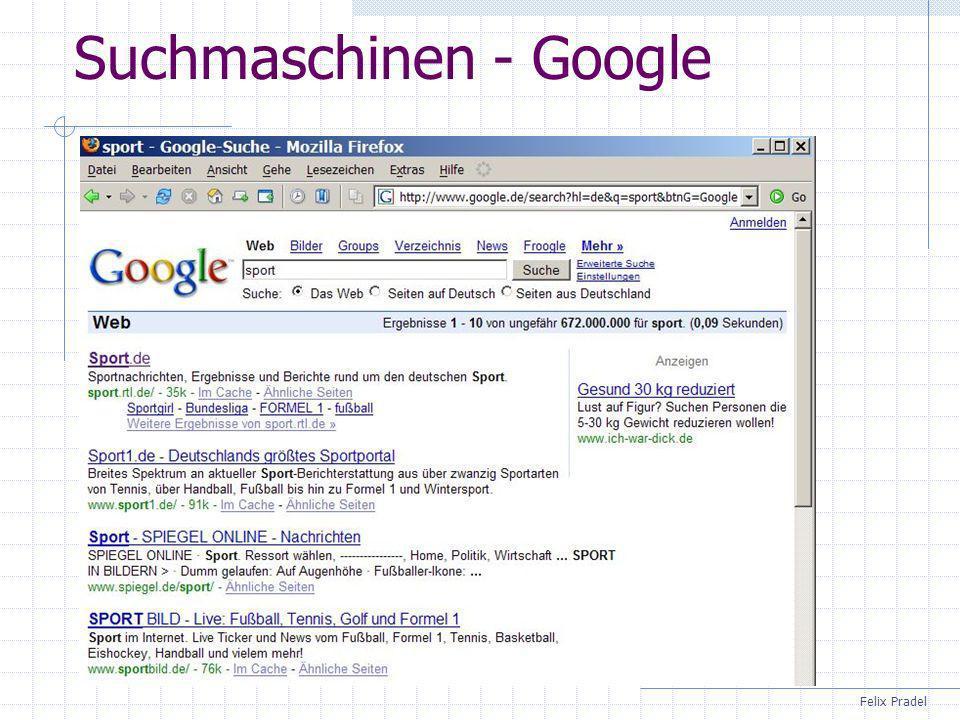 Suchmaschinen - Google