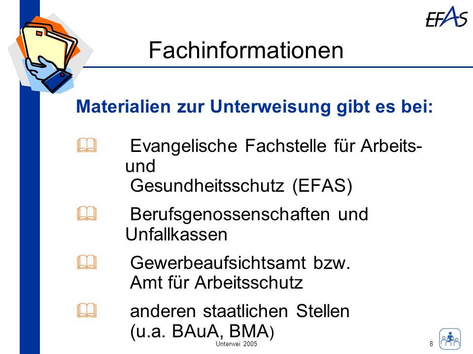 Fachinformationen Materialien zur Unterweisung gibt es bei: