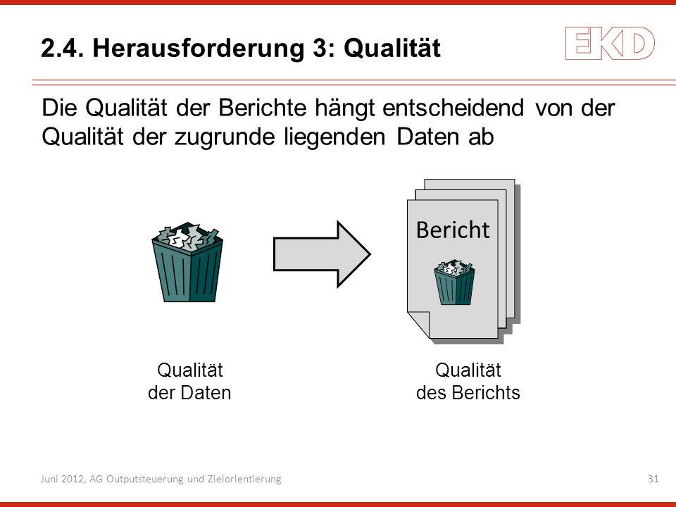 2.4. Herausforderung 3: Qualität