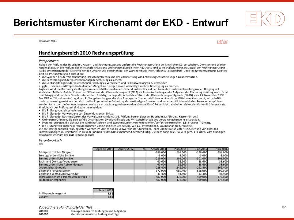 Berichtsmuster Kirchenamt der EKD - Entwurf