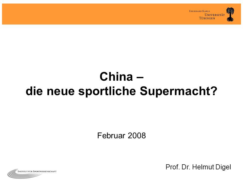 China – die neue sportliche Supermacht
