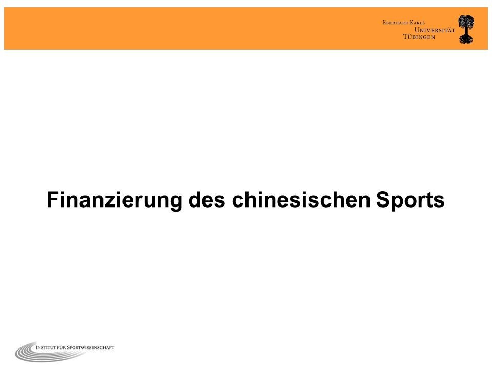 Finanzierung des chinesischen Sports