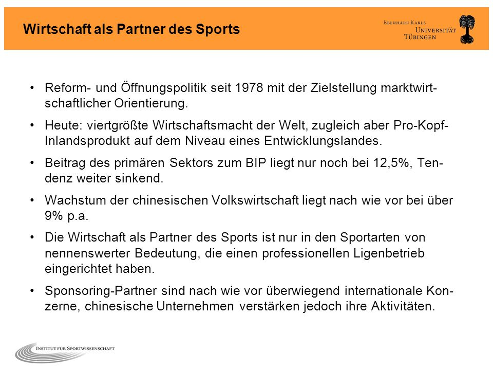Wirtschaft als Partner des Sports