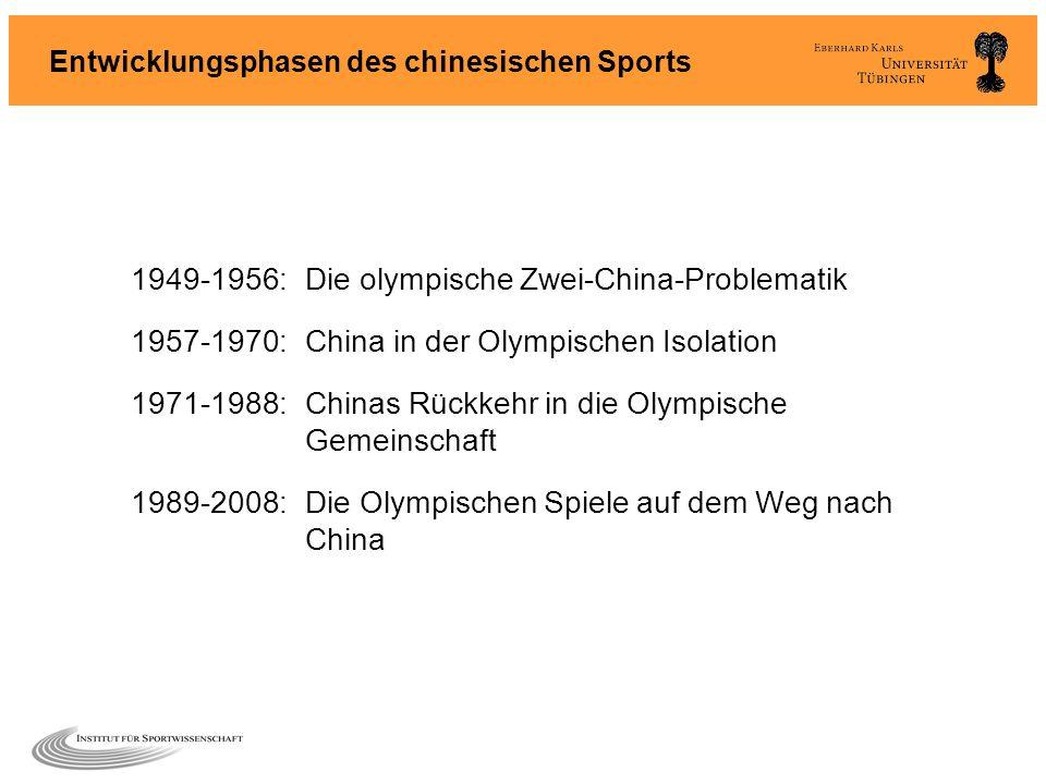 Entwicklungsphasen des chinesischen Sports