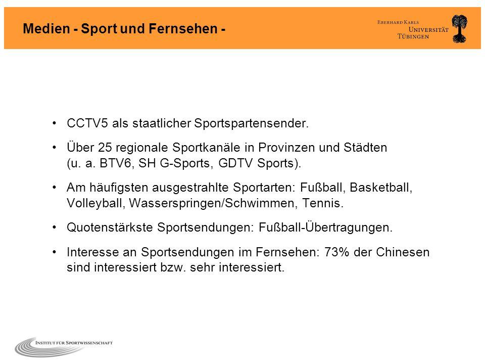 Medien - Sport und Fernsehen -