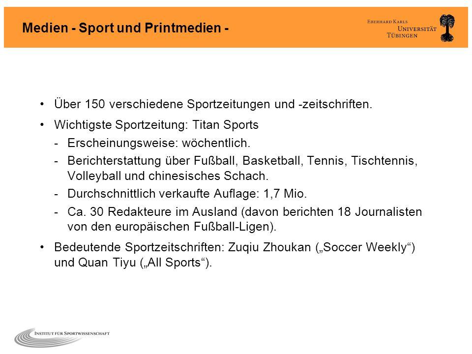 Medien - Sport und Printmedien -