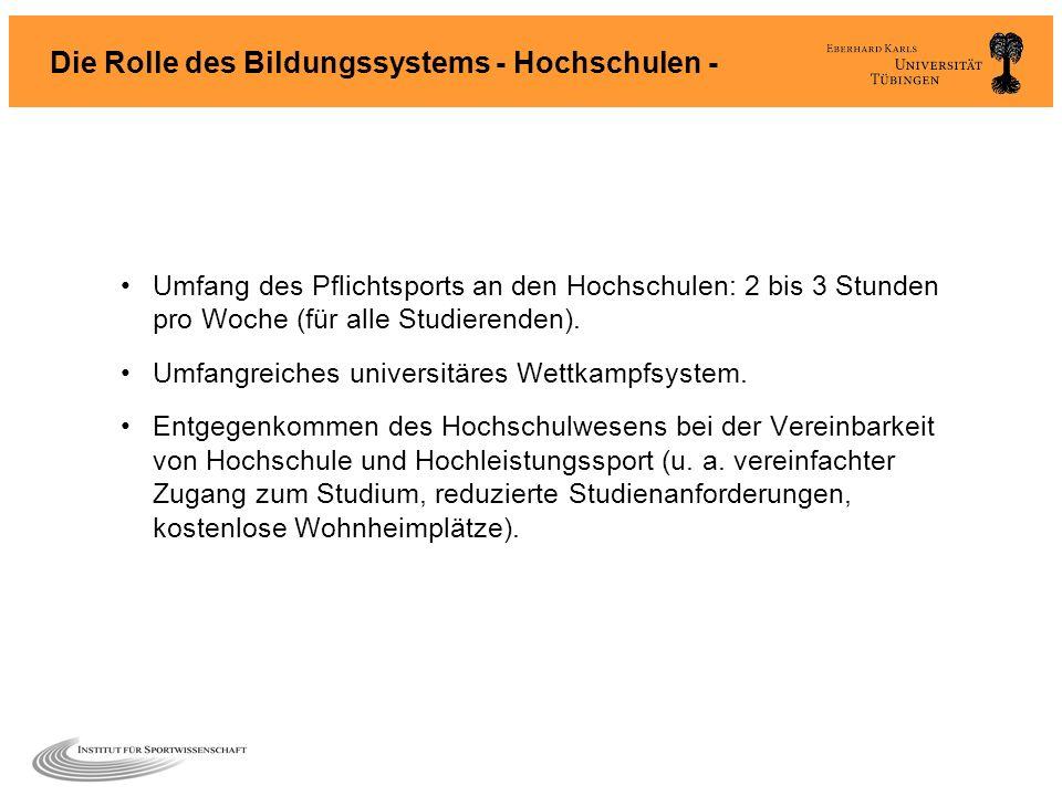 Die Rolle des Bildungssystems - Hochschulen -