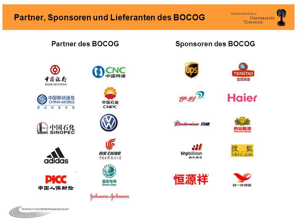 Partner, Sponsoren und Lieferanten des BOCOG