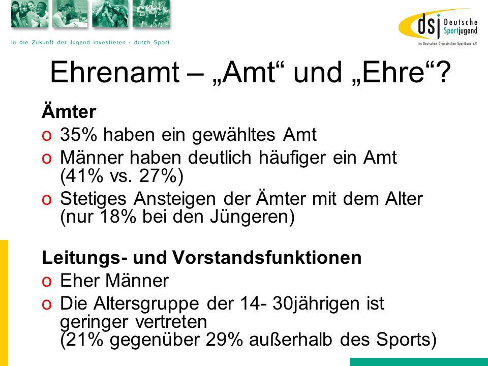 """Ehrenamt – """"Amt und """"Ehre"""