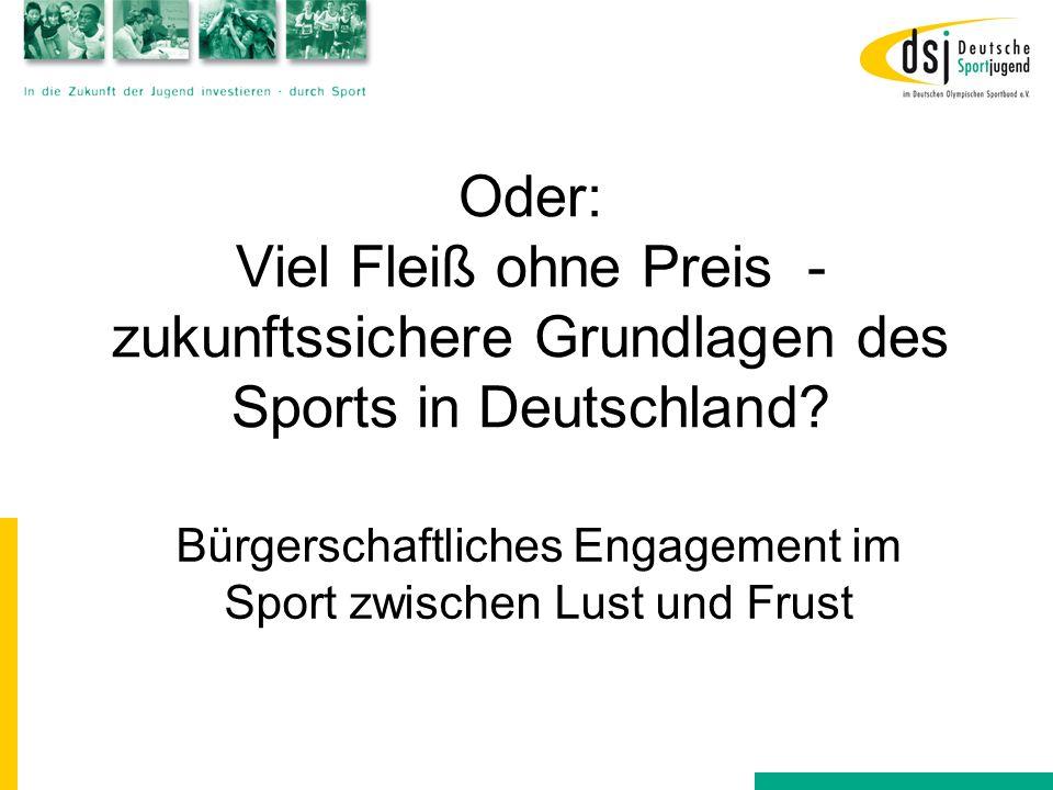Bürgerschaftliches Engagement im Sport zwischen Lust und Frust
