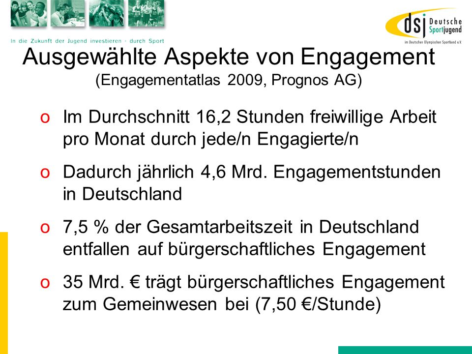 Ausgewählte Aspekte von Engagement (Engagementatlas 2009, Prognos AG)