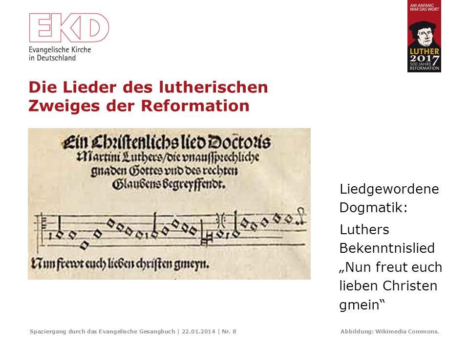 Die Lieder des lutherischen Zweiges der Reformation