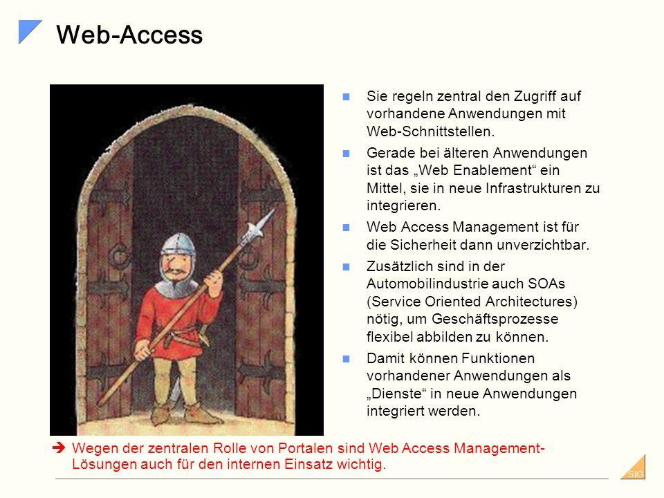Web-Access Sie regeln zentral den Zugriff auf vorhandene Anwendungen mit Web-Schnittstellen.