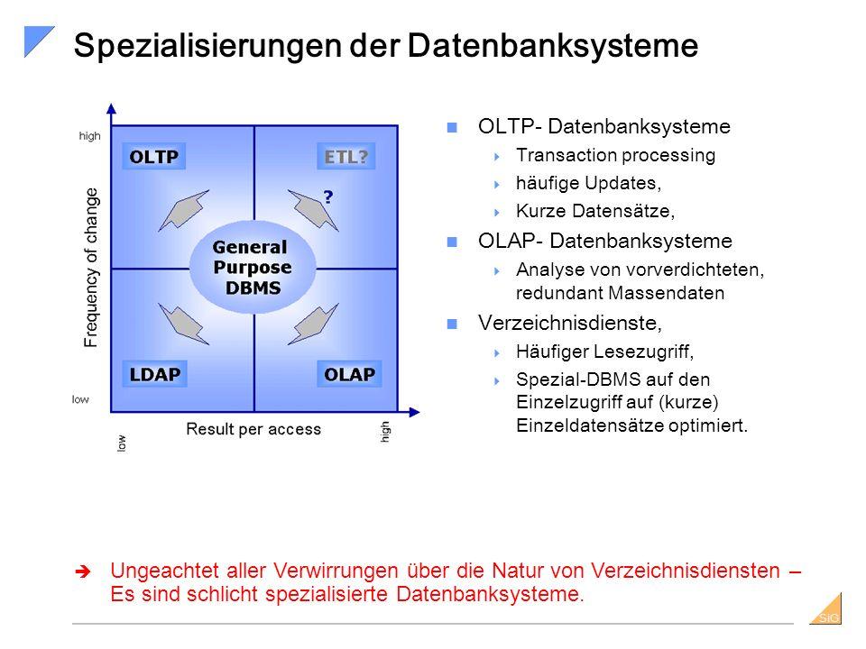 Spezialisierungen der Datenbanksysteme