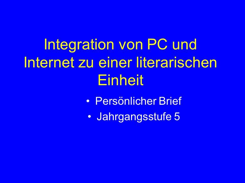 Integration von PC und Internet zu einer literarischen Einheit