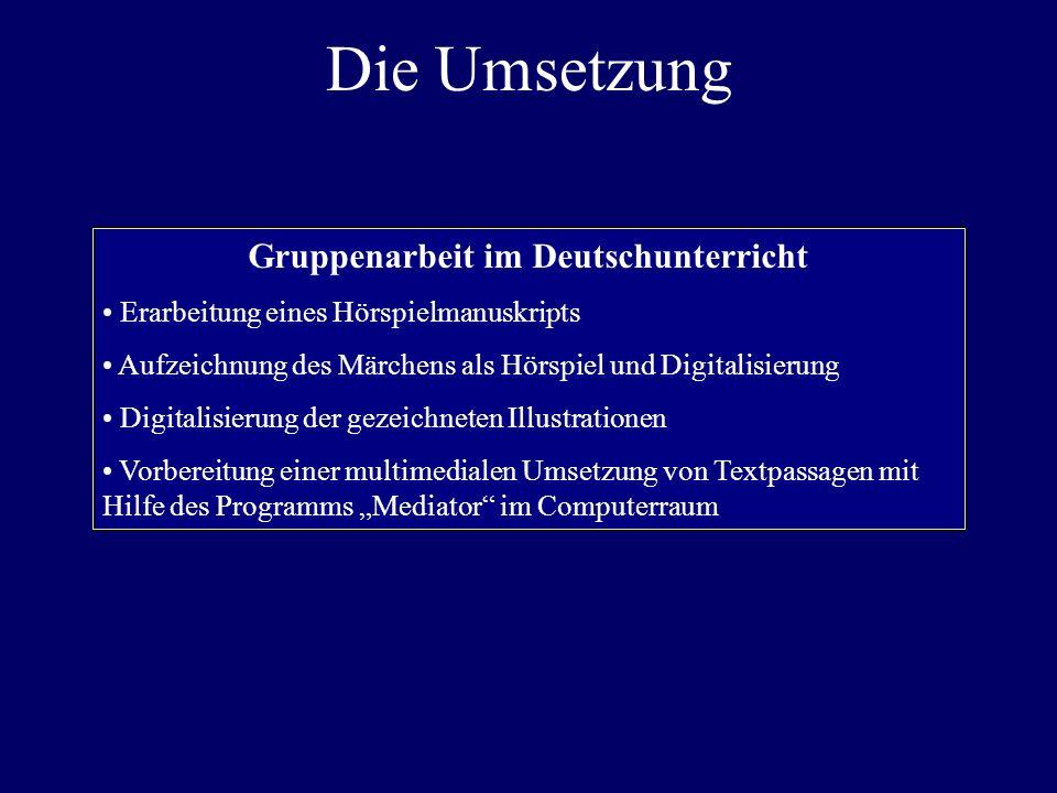 Gruppenarbeit im Deutschunterricht