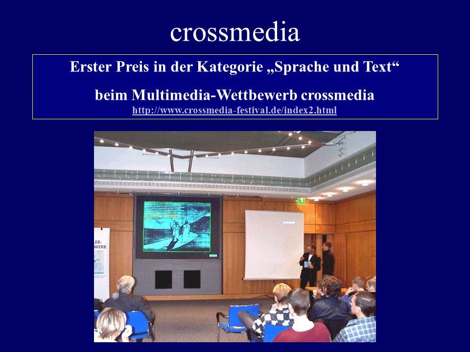 """Erster Preis in der Kategorie """"Sprache und Text"""