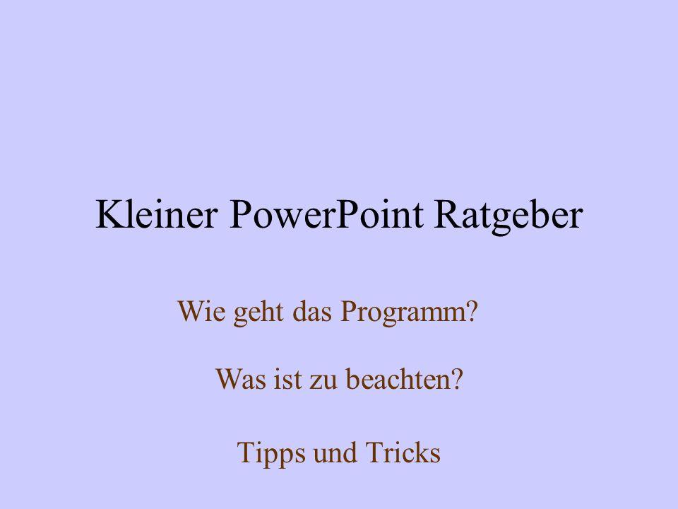 Kleiner PowerPoint Ratgeber