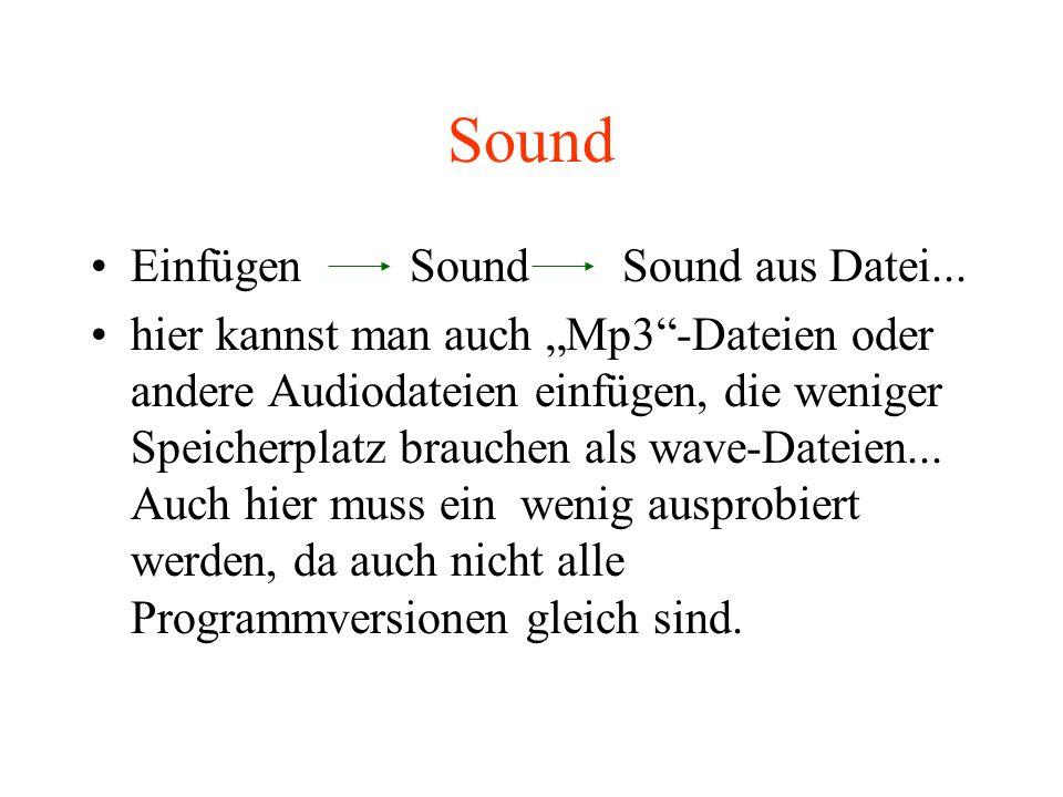Sound Einfügen Sound Sound aus Datei...