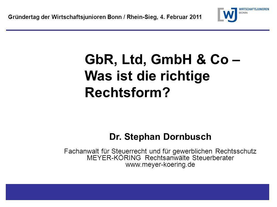 GbR, Ltd, GmbH & Co – Was ist die richtige Rechtsform