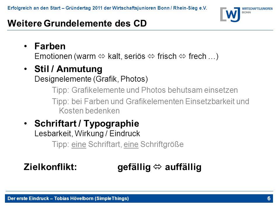 Weitere Grundelemente des CD