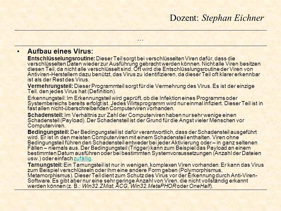 … Aufbau eines Virus: