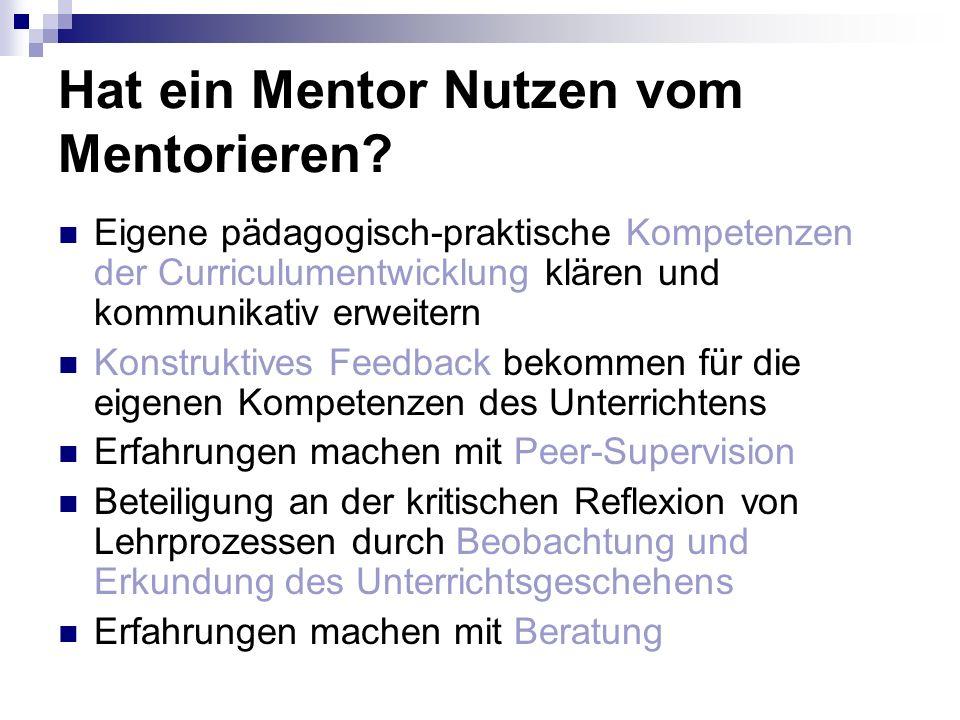 Hat ein Mentor Nutzen vom Mentorieren