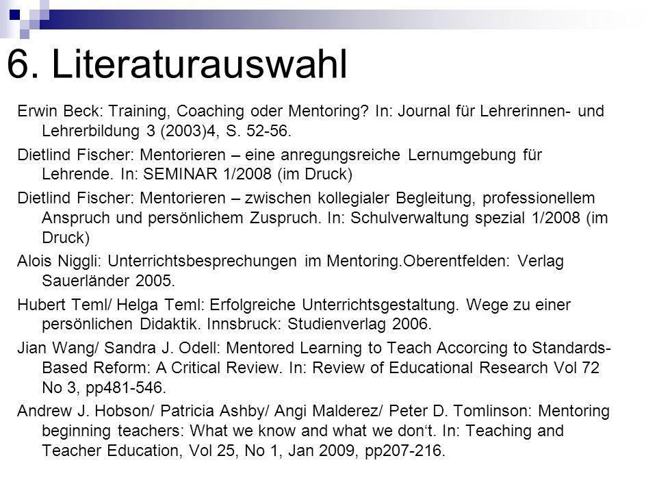 6. Literaturauswahl