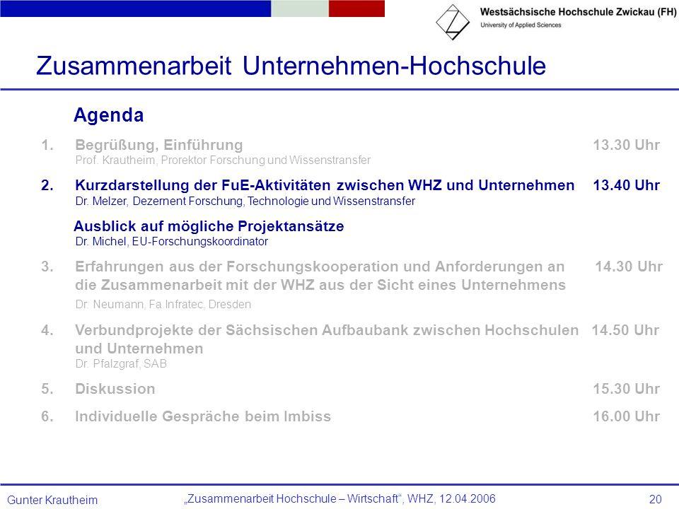 Zusammenarbeit Unternehmen-Hochschule
