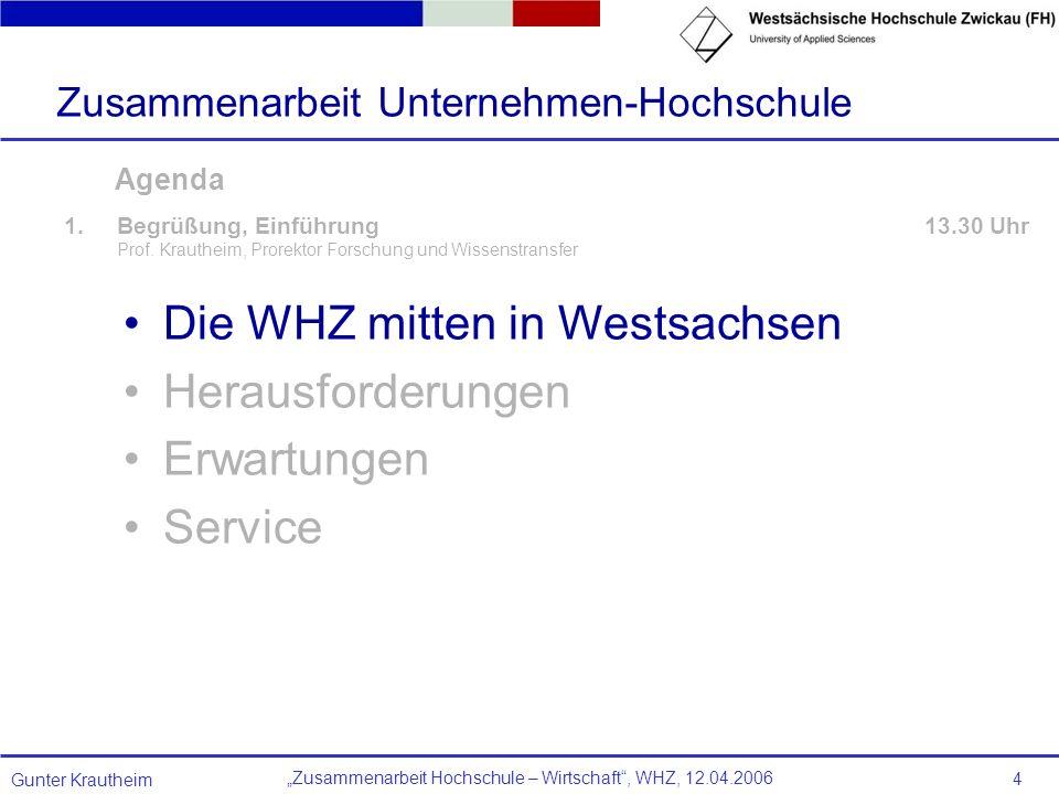 Die WHZ mitten in Westsachsen Herausforderungen Erwartungen Service
