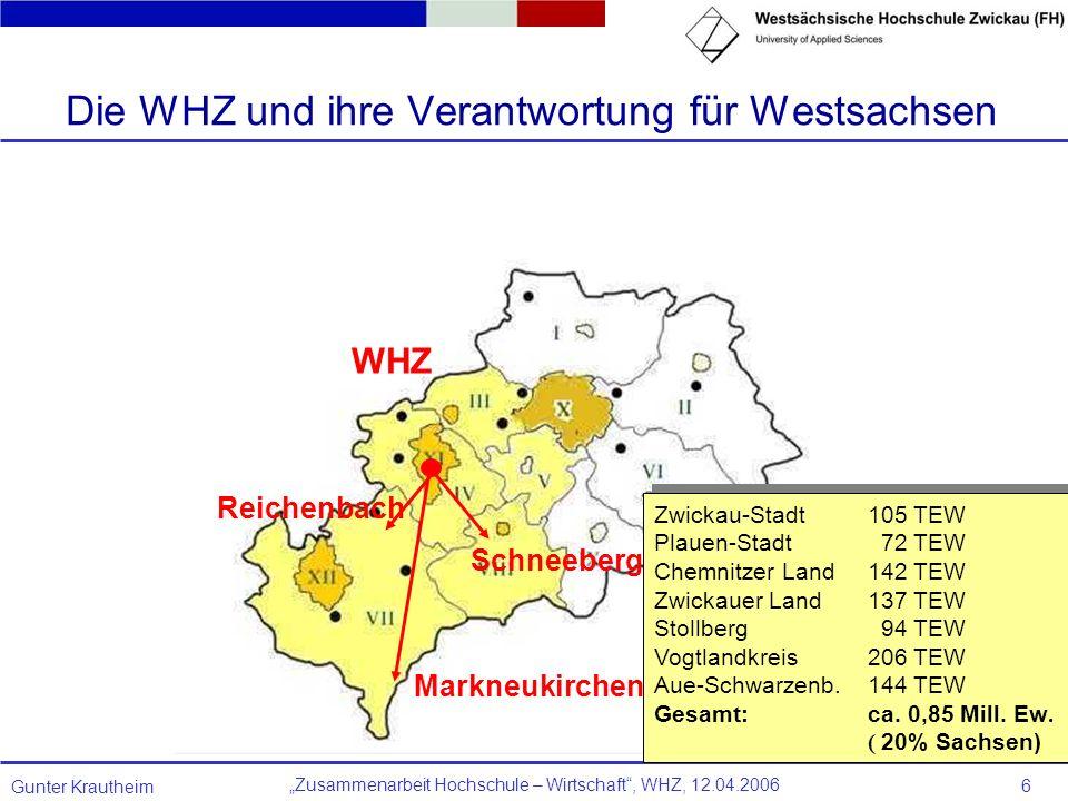Die WHZ und ihre Verantwortung für Westsachsen