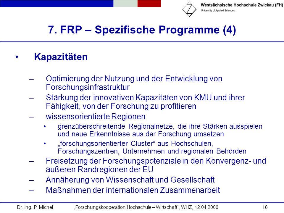 7. FRP – Spezifische Programme (4)
