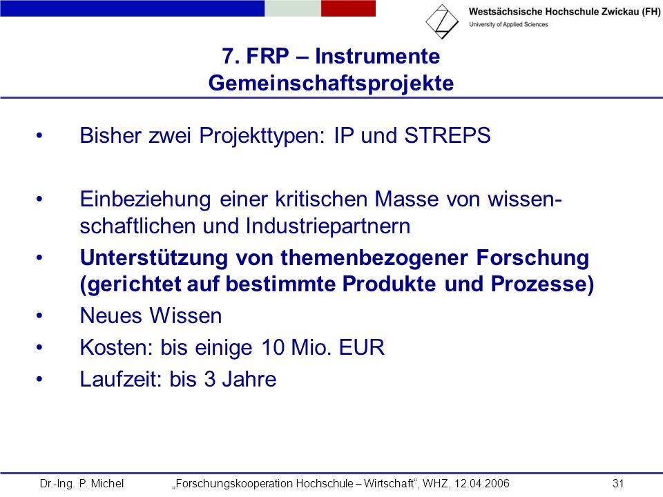 7. FRP – Instrumente Gemeinschaftsprojekte