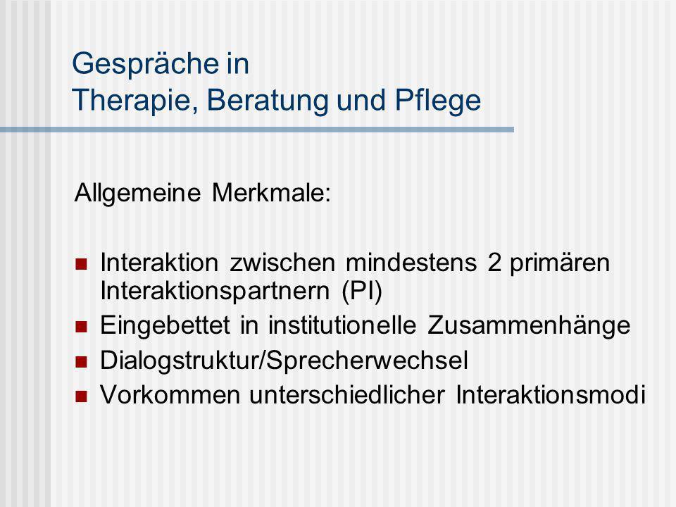 Gespräche in Therapie, Beratung und Pflege