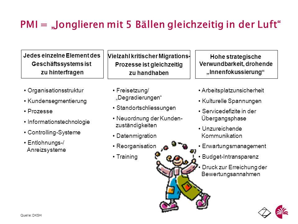 """PMI = """"Jonglieren mit 5 Bällen gleichzeitig in der Luft"""