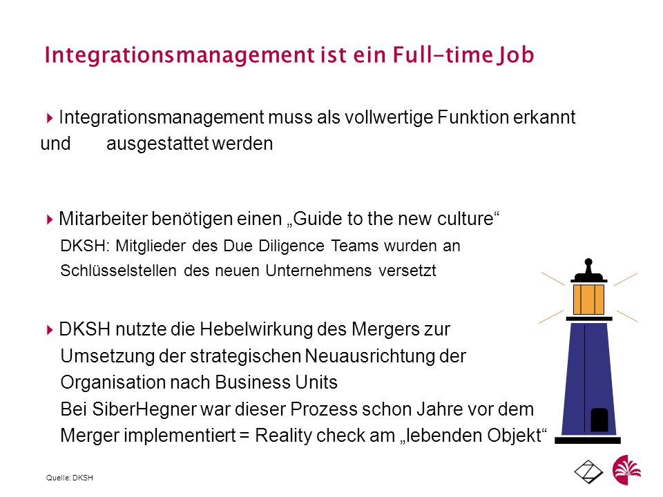 Integrationsmanagement ist ein Full-time Job