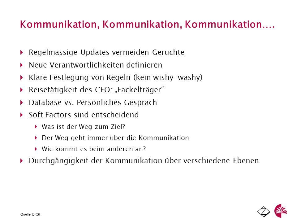 Kommunikation, Kommunikation, Kommunikation….