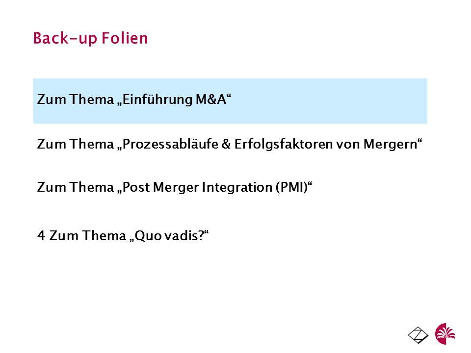 """Back-up Folien Zum Thema """"Einführung M&A"""