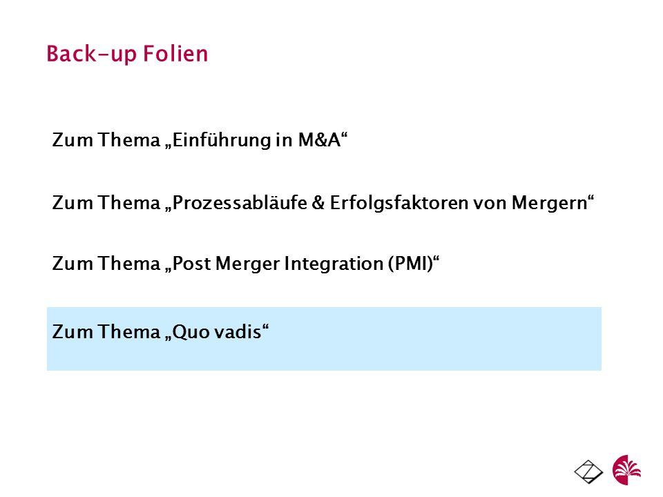 """Back-up Folien Zum Thema """"Einführung in M&A"""