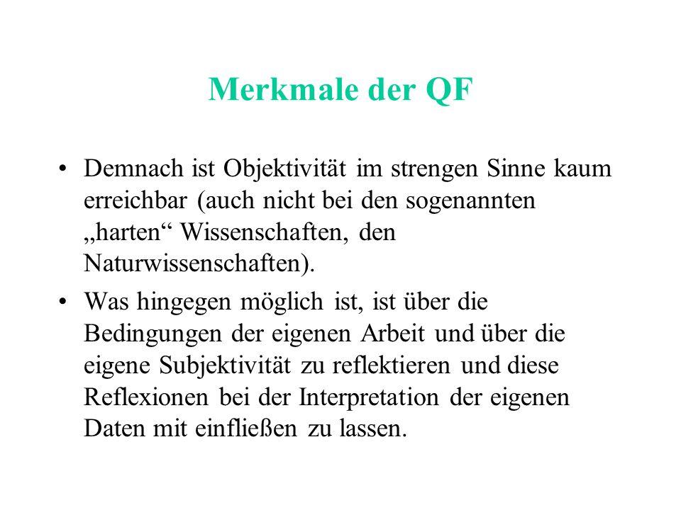 Merkmale der QF