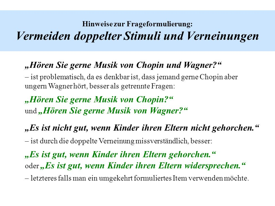 """""""Hören Sie gerne Musik von Chopin und Wagner"""