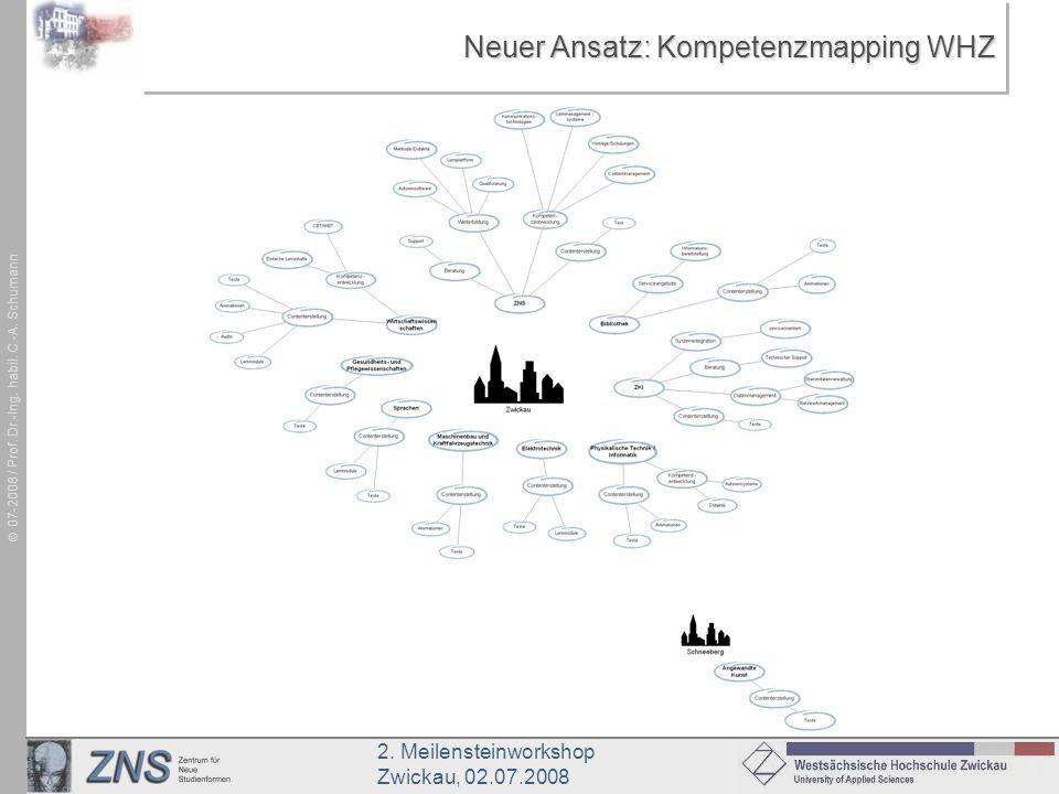 Neuer Ansatz: Kompetenzmapping WHZ