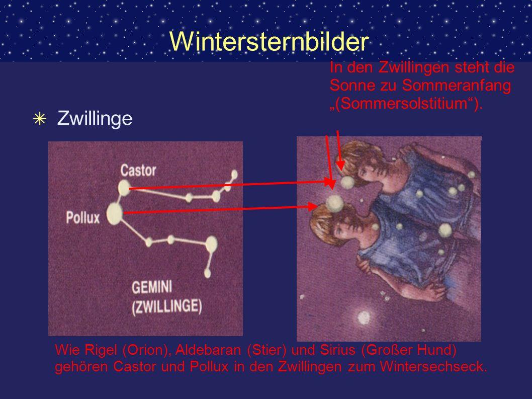 Wintersternbilder Zwillinge