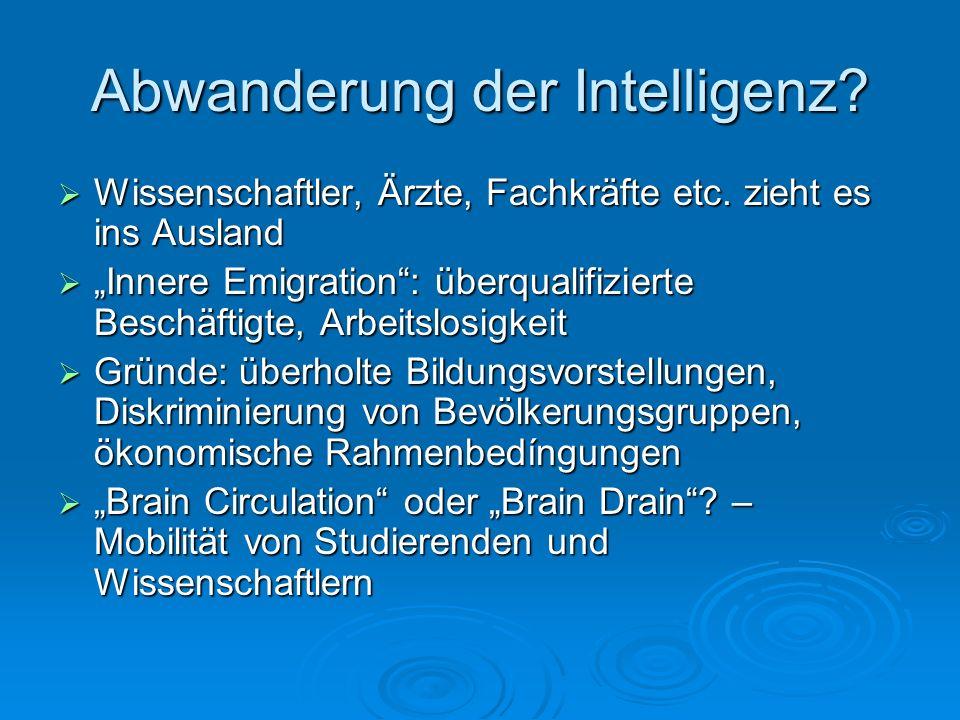 Abwanderung der Intelligenz
