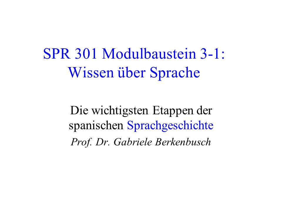 SPR 301 Modulbaustein 3-1: Wissen über Sprache