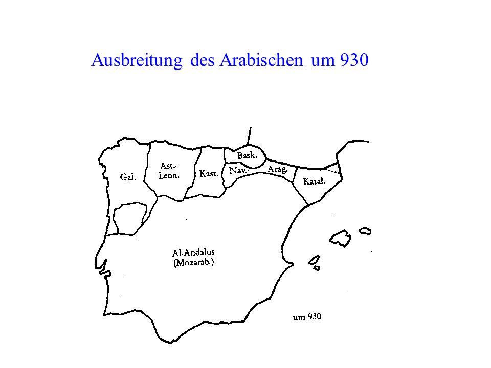 Ausbreitung des Arabischen um 930
