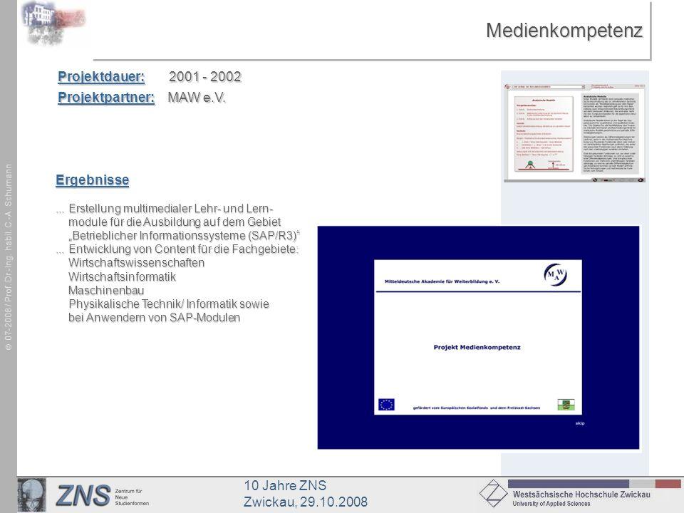 Medienkompetenz Projektdauer: 2001 - 2002 Projektpartner: MAW e.V.