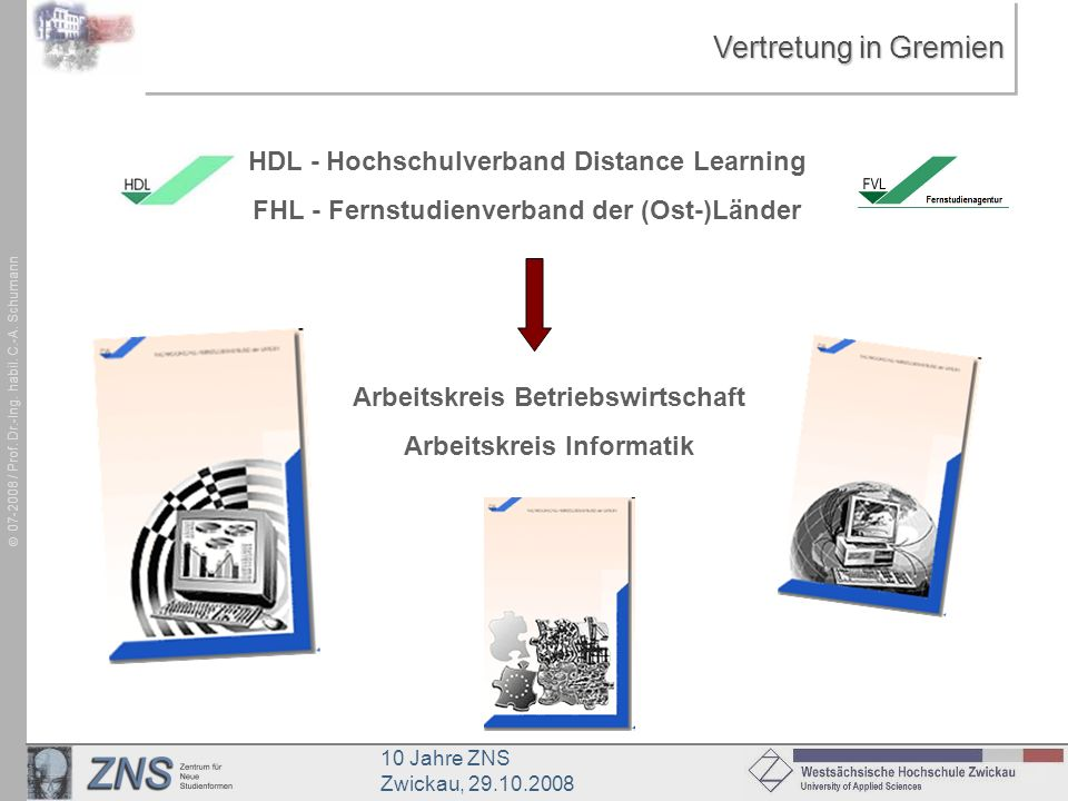 Vertretung in Gremien HDL - Hochschulverband Distance Learning