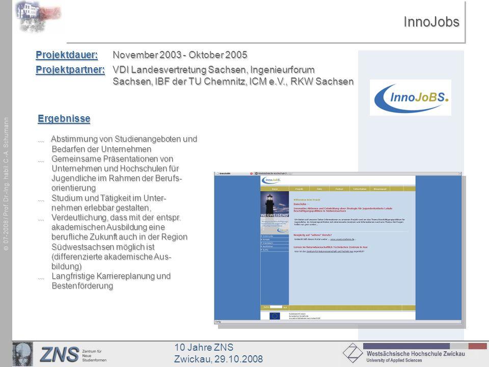 InnoJobs Projektdauer: November 2003 - Oktober 2005